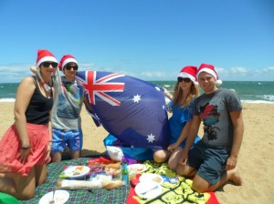 My Xmas day beach companions