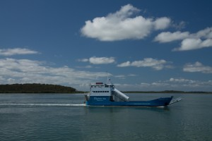 The car barge to Fraser Island