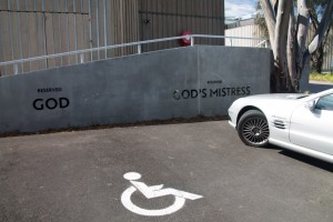 The boss' parking spot at MONA