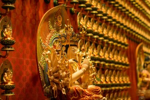 Statues in Buddha Tooth Relic Temple