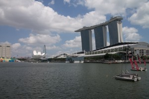 Marina Bay, and the Sands Hotel