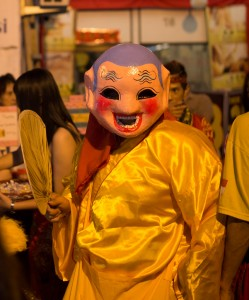 Creepy - during lion parade in Malacca