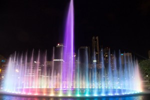 Musical fountains outside KLCC