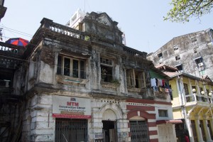 A decaying building in Yangon