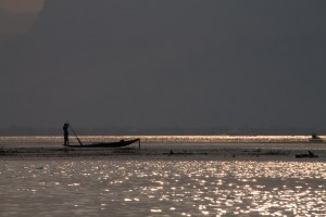 Fishing in the evening