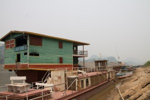 Houseboat on the Mekong River