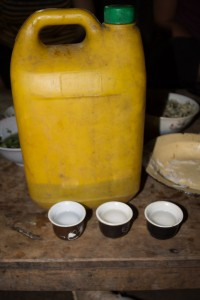 Rice wine, in a lovely carafe