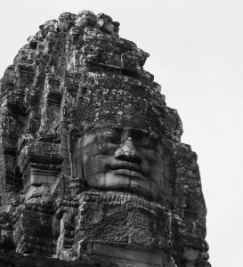 A stone face at Bayon
