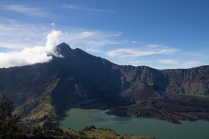 Mt Rinjani and the crater lake