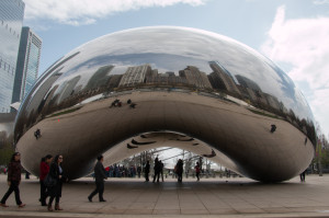 Cloud Gate by Anish Kapoor - better known as The Bean