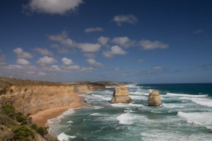 The coastline of the Great Ocean Road