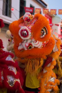 Part of the Chinese New Year lion dance