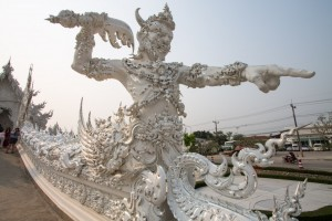 One of the bridge guardians, at the White Temple