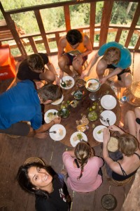 Dinner in the treehouse