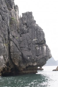 Halong Bay - face in the rock