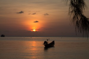 Sunset at Sairee Beach, Koh Tao