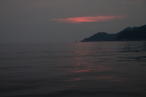 Dive site at 6:30am