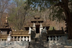 A monastery built entirely from teak