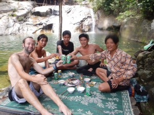 My waterfall buddies