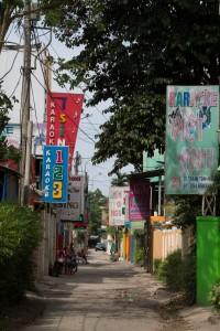 Karaoke Street - there were more bar signs, hidden from view