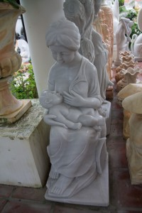 A statue, breast-feeding. I did a double-take at this...