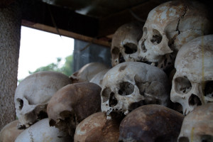 Skulls from the Killing Fields, part of the memorial at the site