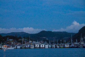Fishing boats parked for the night
