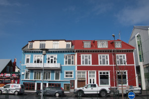 The Icelandic people love brightly coloured corrugated iron