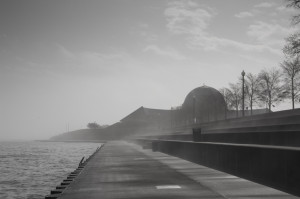 Foggy morning at the Adler Planetarium