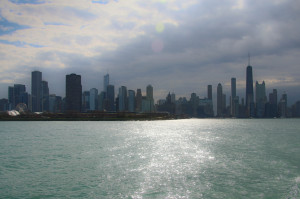 The city from Lake Michigan