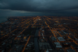 Nighttime view from the Willis Tower
