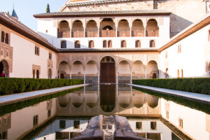 Mirror pool at the Alhambra Palace
