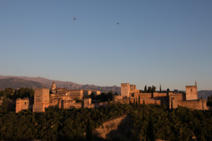 Sunset view of the Alhambra Palace